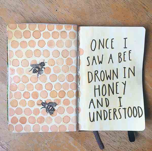 Quote page bee theme bullet journal