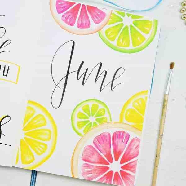 June citrus cover page theme