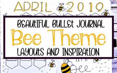 Beautiful Bullet Journal Bee Theme Layouts
