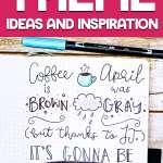 Bullet journaling coffee theme