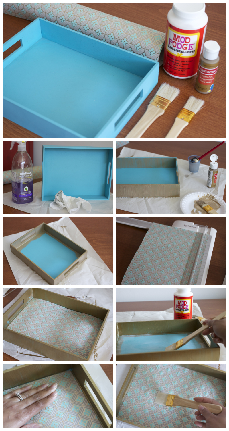 Paper Decoupage Tray