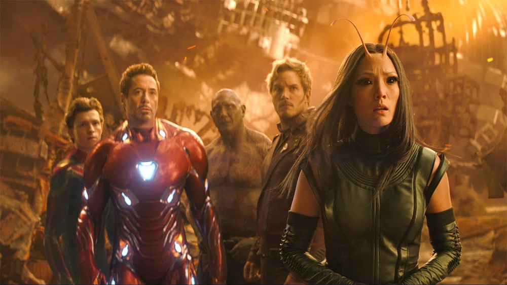 Vingadores Guerra Infinita Guardiões da Galáxia Titan Peter Parker Tony Stark Drax Mantis Peter Quill