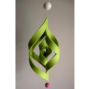 Felt Ogee and Snowflake Ornament