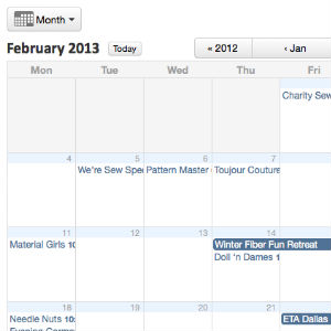 February Group Schedule online