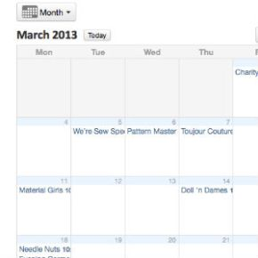 March Group Schedule online