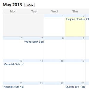 May Group Schedule Online