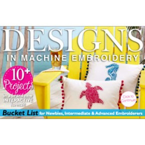 Free: Designs in Machine Embroidery - Summer Special