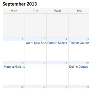 September Group Schedule Online