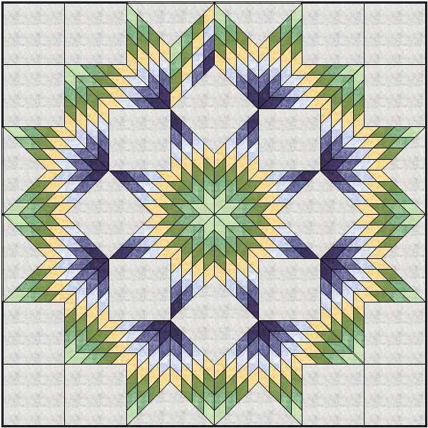 Quiltin' Bs Broken Star/Lone Star quilt