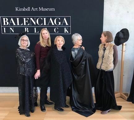 Designing Divas visit Balenciaga in Black at the Kimbell Art Museum