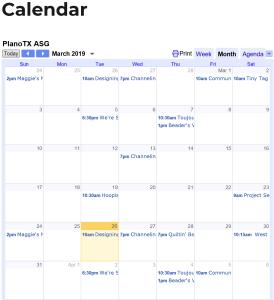 Link to event calendar