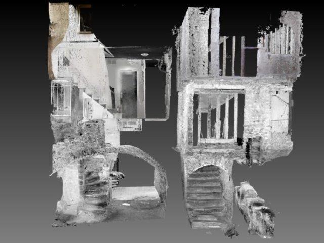 Relevé 3D : 2 caves contiguës pour les situer.