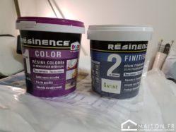 Test Resinence Renovation Plan De Travail Avec Peinture Resine