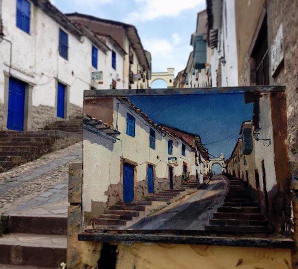 Alice Boggis-Rolfe Art - Cuzco Cobbled Street