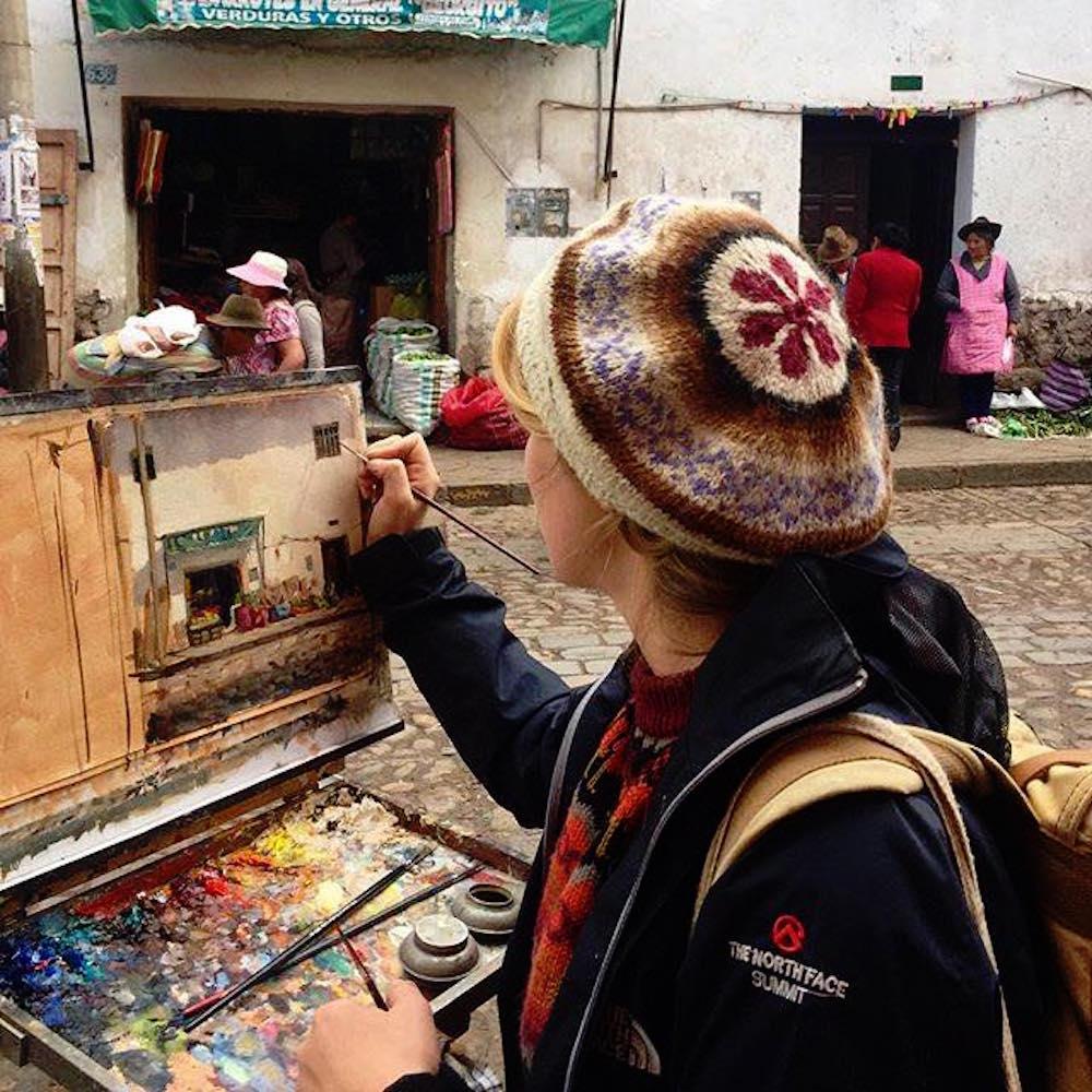 Alice Boggis-Rolfe Art - Painting in Cuzco