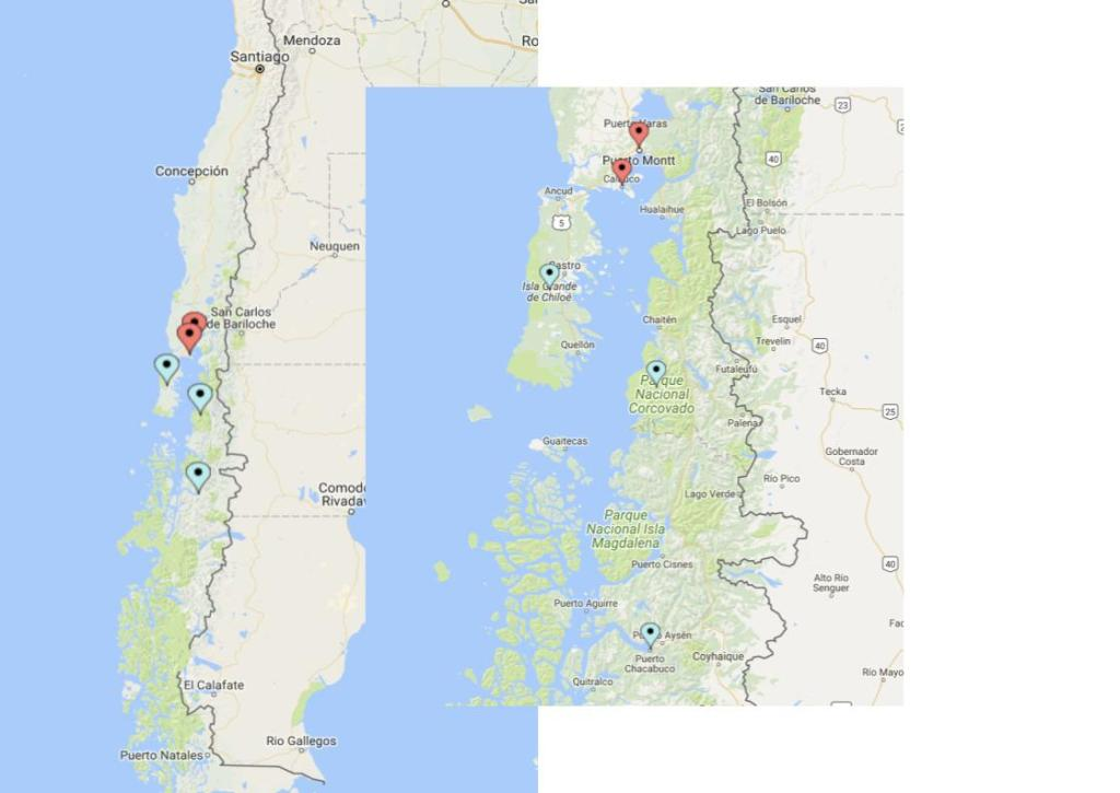 Cruising the Chilean Fjords - Route Map