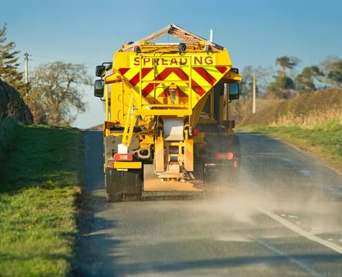 Gritting in winter