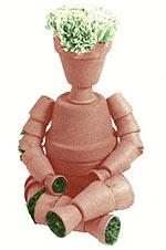 Muñecos de macetas para el jardín