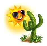 14489049-cactus-and-sun-character-smiling-and-happy-with-dark-glasses-as-a-hot-tropical-summer-fun-concept-on