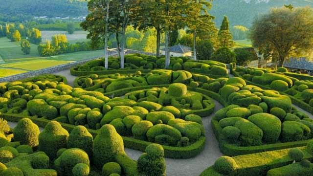 Jardines de Marqueyssac: boj hecho arte