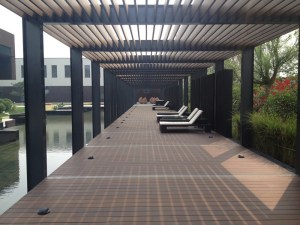 Plantation Bamboo X-treme decking outdoor area