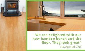 Plantation Bamboo flooring and benchtop