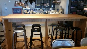 bamboo ply panels - cafe benchtop