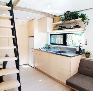 bamboo ply panels - kitchen bamboo joinery and bamboo stair treads