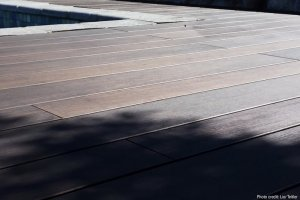 Bamboo X-treme decking poolside
