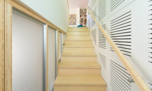 bamboo panels used to make staircase