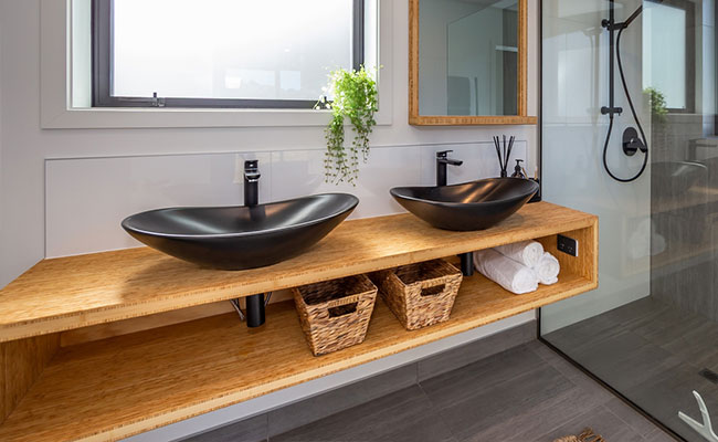 Bamboo Bathroom vanity