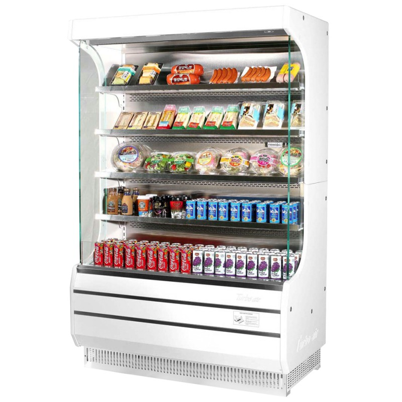 turbo air tom 50b n 51 refrigerated air curtain merchandiser