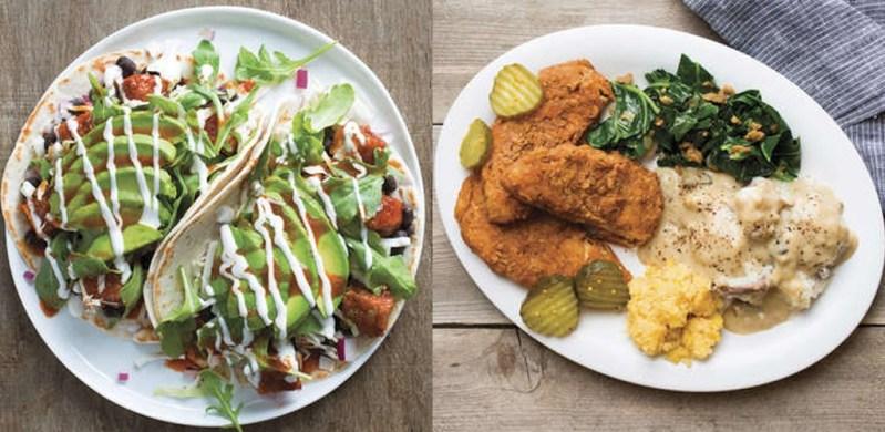 Veggie Grill fall menu review items.