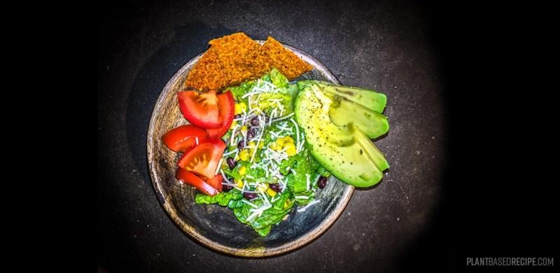 Oil free vegan caesar salad