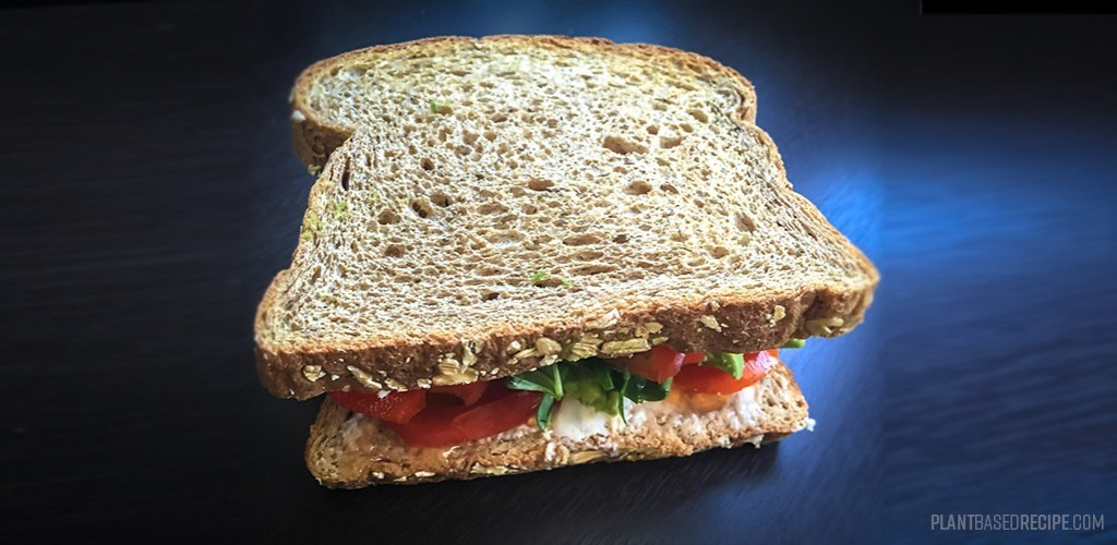 vegan sandwich on table