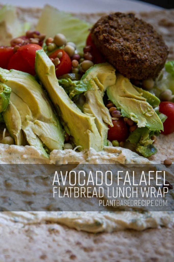 Pinterest image for falafel wrap.