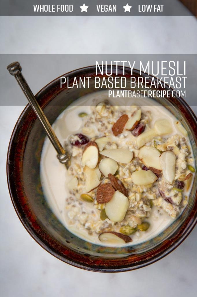 Pinterest image of muesli