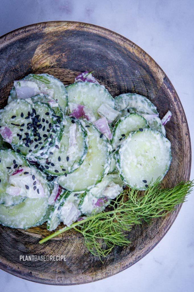 Cool ranch cucumber salad