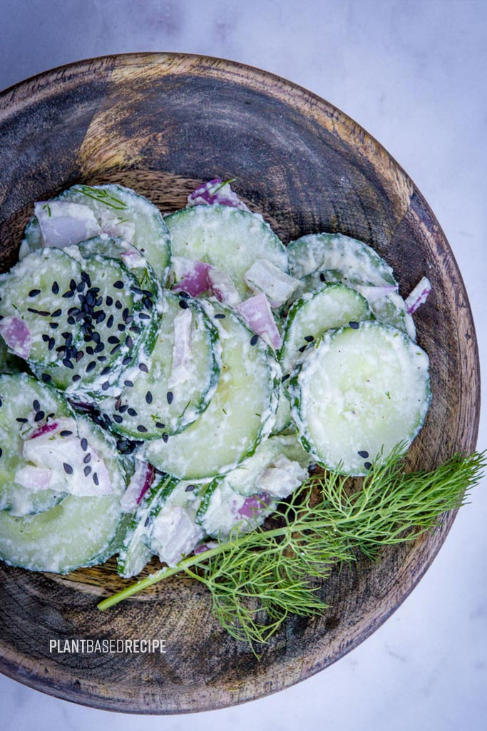 Cool Ranch and Cucumber salad (No oil, Vegan)