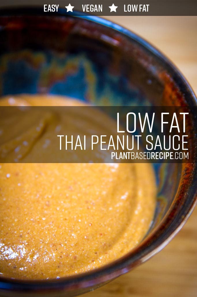Thai peanut sauce - low fat, no oil.