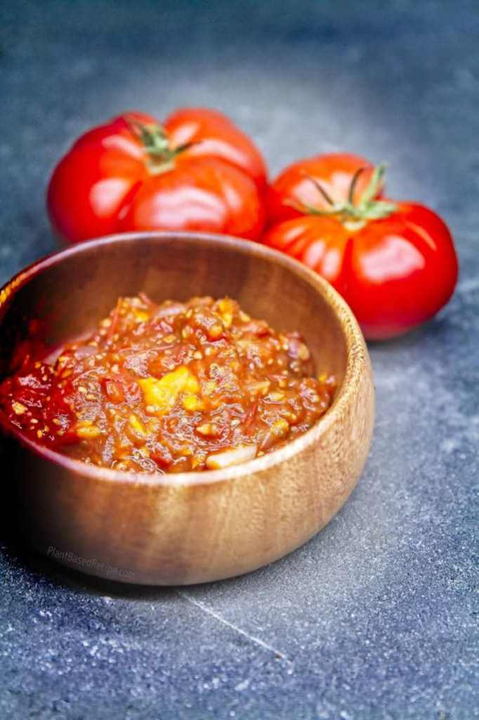 Goldenberry and chia seed tomato jam recipe