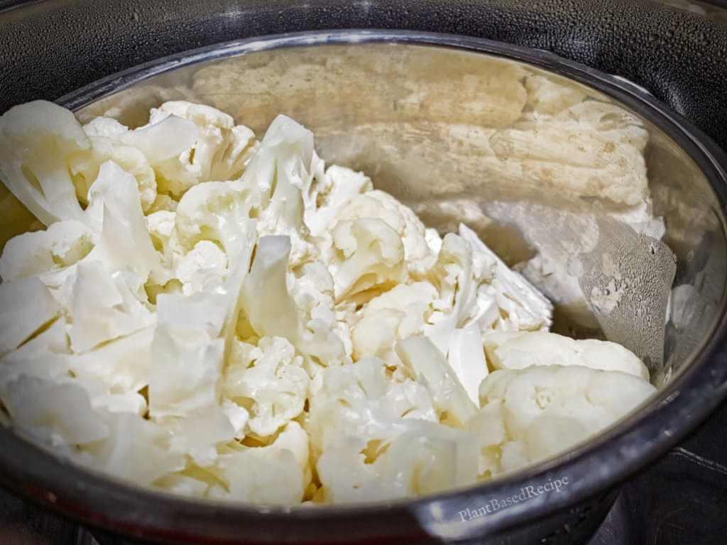 Cauliflower in Instant Pot.