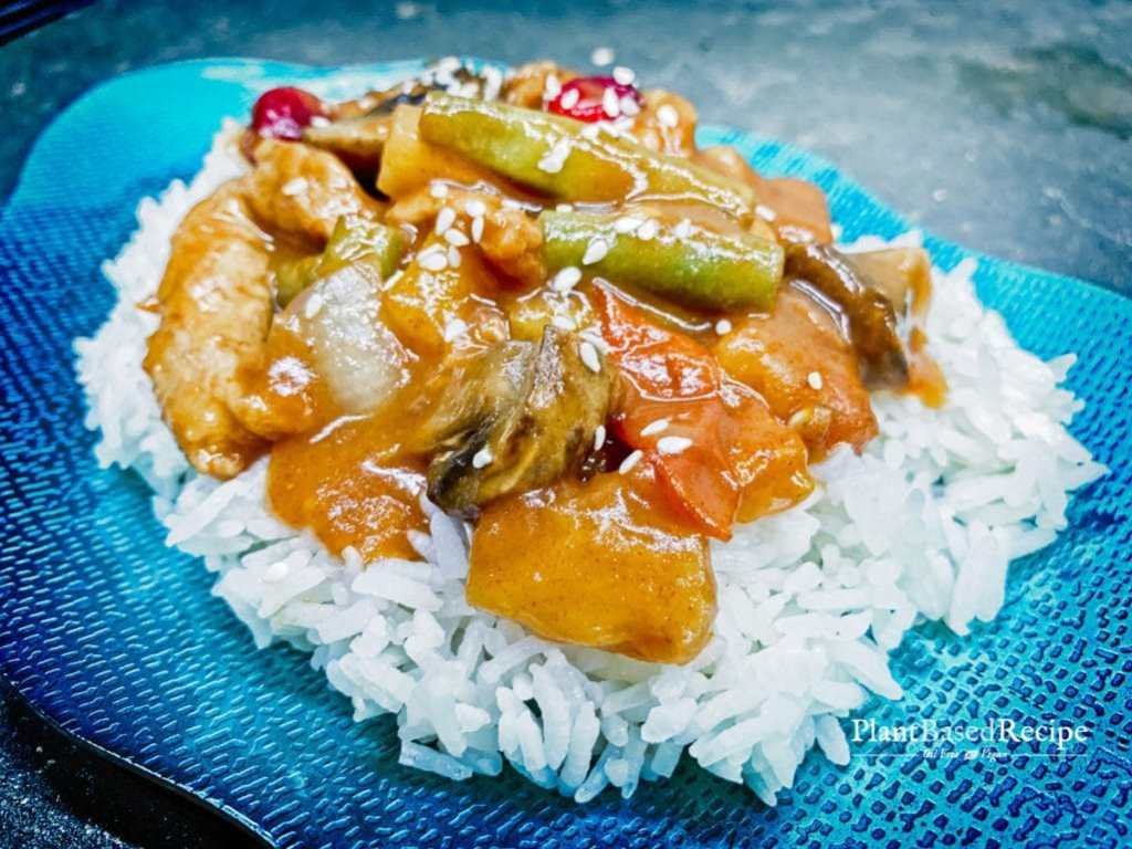 Healthy vegan sweet and sour stir fry recipe.
