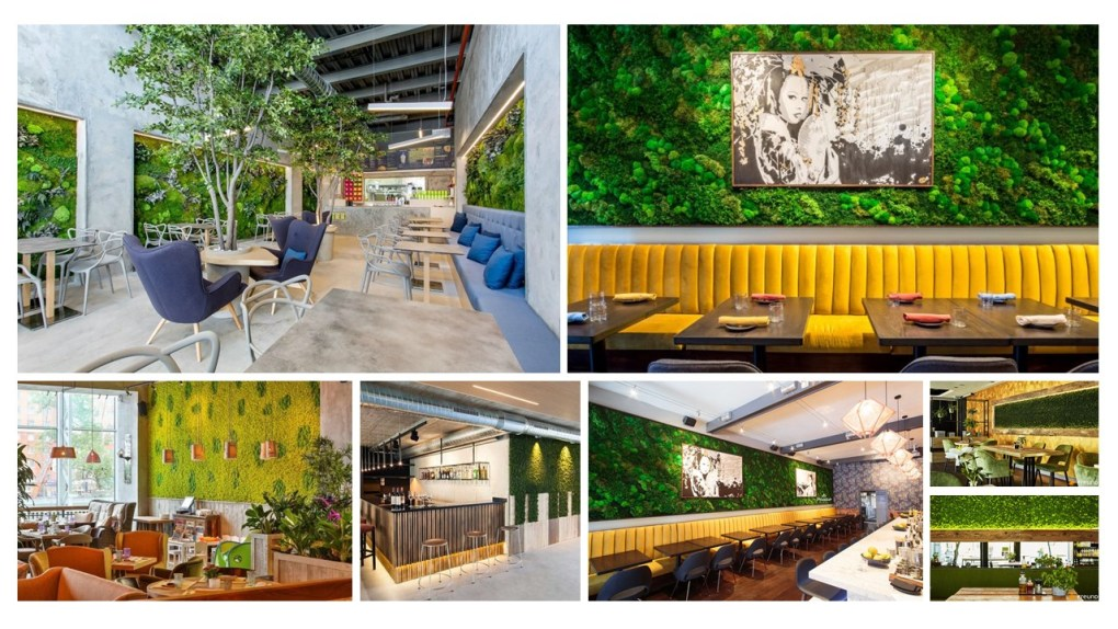 moswand restaurant - moswand inspiratie voor in je restaurant - cafe - bar - hotel