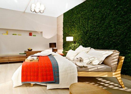 moswand binnen in huis - inspiratie voor een mos muur binnen in je badkamer, slaapkamer, woonkamer, keuken of in de gang