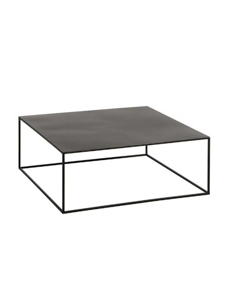 table de salon carree metal noir de marque j line