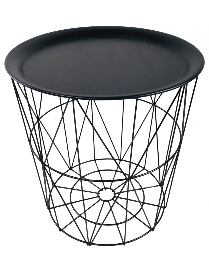 table basse avec plateau et support metallique geometrique