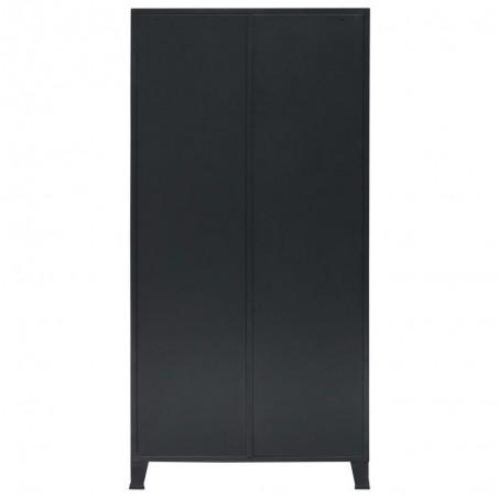 armoire metallique de vestiere style industriel noir 90x40x180cm