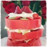 Watermelon Fruit Cake Vegan Gluten Free Plant-Based Healthy Easy to Make #easyvegan #rawfood #rawvegan #plantbased #fruitbirthday #planted365