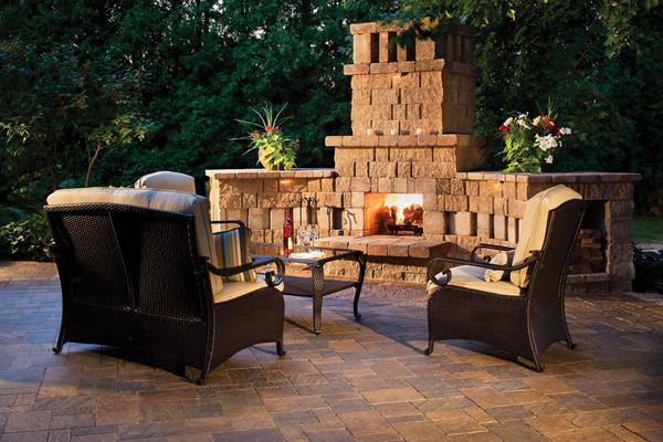 outdoor fireplace ideas and kits diy